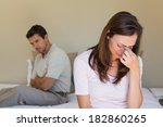 unhappy couple not talking... | Shutterstock . vector #182860265