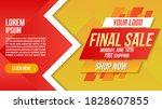 final sale banner clearance... | Shutterstock .eps vector #1828607855