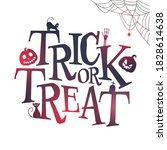 trick or treat text with... | Shutterstock .eps vector #1828614638