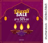 up to 50  off for diwali sale... | Shutterstock .eps vector #1828615865