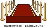 red carpet icon. editable...