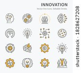 innovation icons  such as... | Shutterstock .eps vector #1828627208