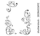 decorative frame with stylized... | Shutterstock .eps vector #1828632692