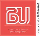 initial letter bu letter logo...