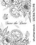 luxurious vertical floral... | Shutterstock .eps vector #1828676198