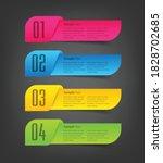 modern 3d text box template ...   Shutterstock .eps vector #1828702685
