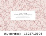 vintage card with plumeria...   Shutterstock .eps vector #1828710905