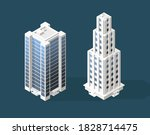 isometric high quality city... | Shutterstock .eps vector #1828714475