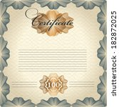certificate or coupon for... | Shutterstock .eps vector #182872025
