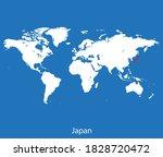 vector map of the japan | Shutterstock .eps vector #1828720472