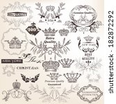 vector set of calligraphic... | Shutterstock .eps vector #182872292