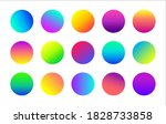 circle colorful gradient vector ...