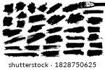 set of thick brushstrokes.... | Shutterstock .eps vector #1828750625