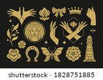 esoteric magic and witch vector ... | Shutterstock .eps vector #1828751885