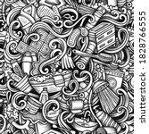 bathroom hand drawn doodles... | Shutterstock . vector #1828766555