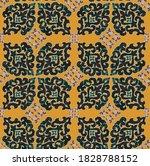 detailed oriental grunge damask ...   Shutterstock . vector #1828788152