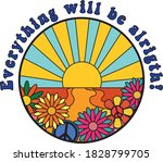 hippie style colorful...   Shutterstock .eps vector #1828799705