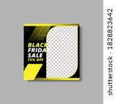 black friday social media post... | Shutterstock .eps vector #1828823642