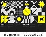 swiss poster design template... | Shutterstock .eps vector #1828836875