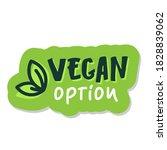 vegan option  lettering food... | Shutterstock .eps vector #1828839062