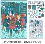 find 22 hidden objects.... | Shutterstock .eps vector #1828844708