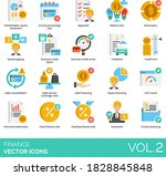 finance icons including...   Shutterstock .eps vector #1828845848