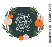 thanksgiving quote with white... | Shutterstock .eps vector #1828846295