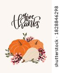 Thanksgiving Card With Pumpkins ...