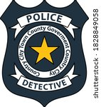 police badge icon. editable...