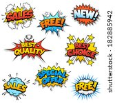 set of eight cartoon graphic...