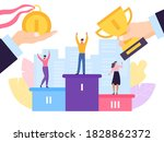 champion in competition  goal... | Shutterstock .eps vector #1828862372