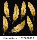 vector collection of golden... | Shutterstock .eps vector #1828870925