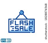 flash sale sign icon in filled...