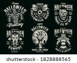 halloween vintage spooky... | Shutterstock .eps vector #1828888565