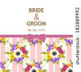 wedding invitation cards with... | Shutterstock .eps vector #182889992
