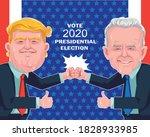 joe biden and donald trump.... | Shutterstock .eps vector #1828933985