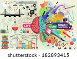 left and right brain functions  ... | Shutterstock .eps vector #182893415