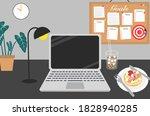 black design office decoration... | Shutterstock .eps vector #1828940285