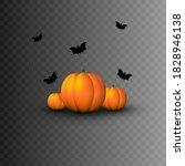 halloween. decorative elements... | Shutterstock .eps vector #1828946138