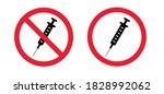 no drugs. no syringe. stop no...   Shutterstock .eps vector #1828992062