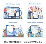 financial analyst online...   Shutterstock .eps vector #1828995362