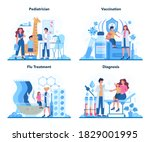 pediatrician concept set.... | Shutterstock .eps vector #1829001995