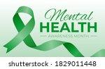 mental health awareness month...   Shutterstock .eps vector #1829011448