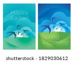 laconic elegant swallow in...   Shutterstock .eps vector #1829030612