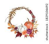 Beautiful Fall Wreath With...
