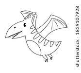 Pteranodon Dinosaur Vector...