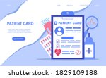 patient card. medical card....   Shutterstock .eps vector #1829109188