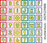 toy cube block abc alphabet... | Shutterstock .eps vector #1829129888