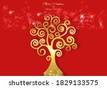 tree of life isolated on red... | Shutterstock .eps vector #1829133575