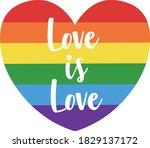 rainbow heart. heart painted...   Shutterstock .eps vector #1829137172